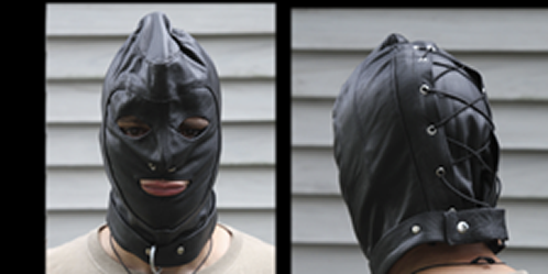 leather hood bondage
